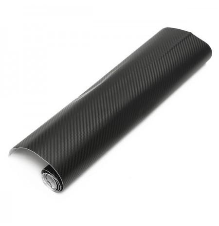 Черная карбоновая плёнка 3D 127 х 30 см