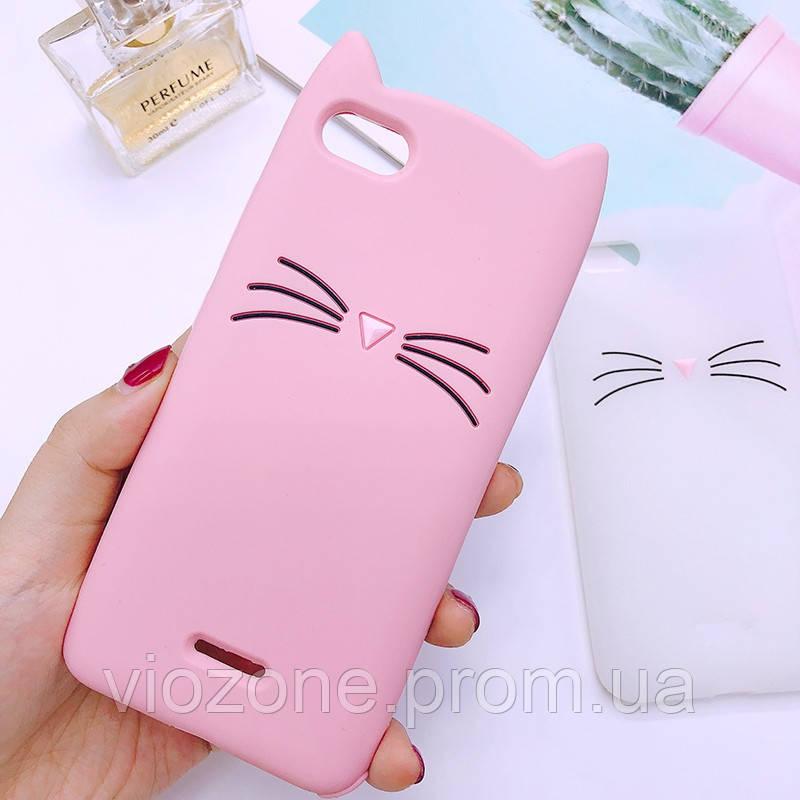 3d Чехол Бампер для Xiaomi Redmi 6a Розовый Кот