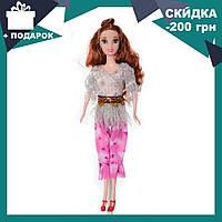 Кукла 3115 с длинными волосами, на каблуках, в костюме для девочки, в кульке | куколка, фото 1