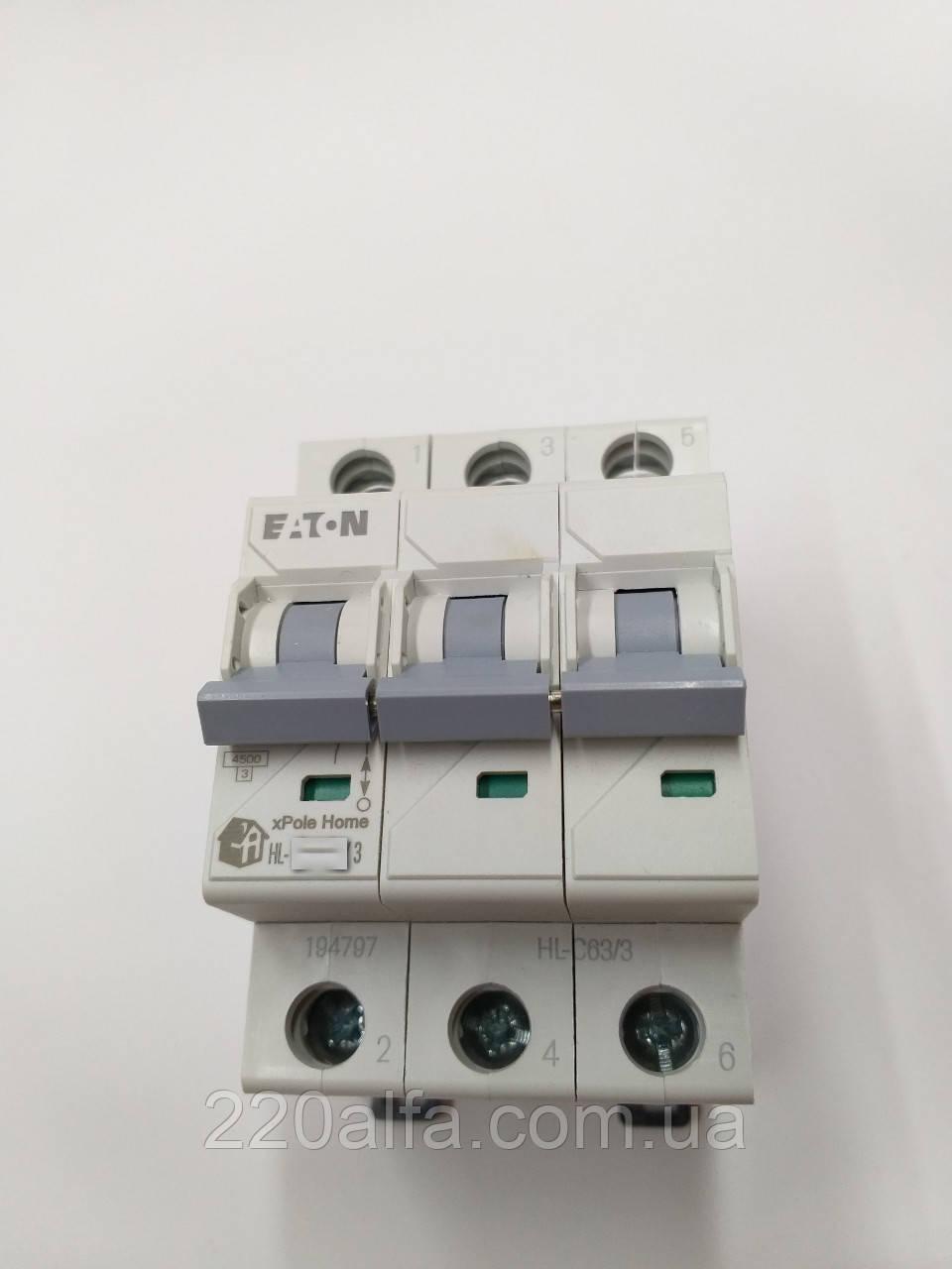 Автоматический выключатель Moeller Eaton HL-C 20/3