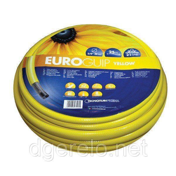 Шланг садовый Tecnotubi Euro Guip Yellow для полива диаметр 1/2 дюйма, длина 20 м (EGY 1/2 20)