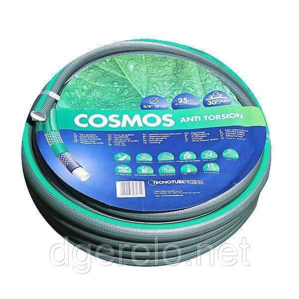 Шланг Tecnotubi Cosmos садовый для полива диаметр 3/4 дюйма, длина 25 м (CS 3/4 25)