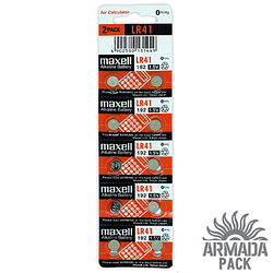Батарейки Maxell Alkaline LR 41(10 шт)