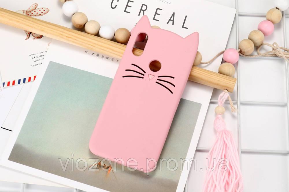 3d Чехол Бампер для Xiaomi Redmi Note 7 Розовый Кот