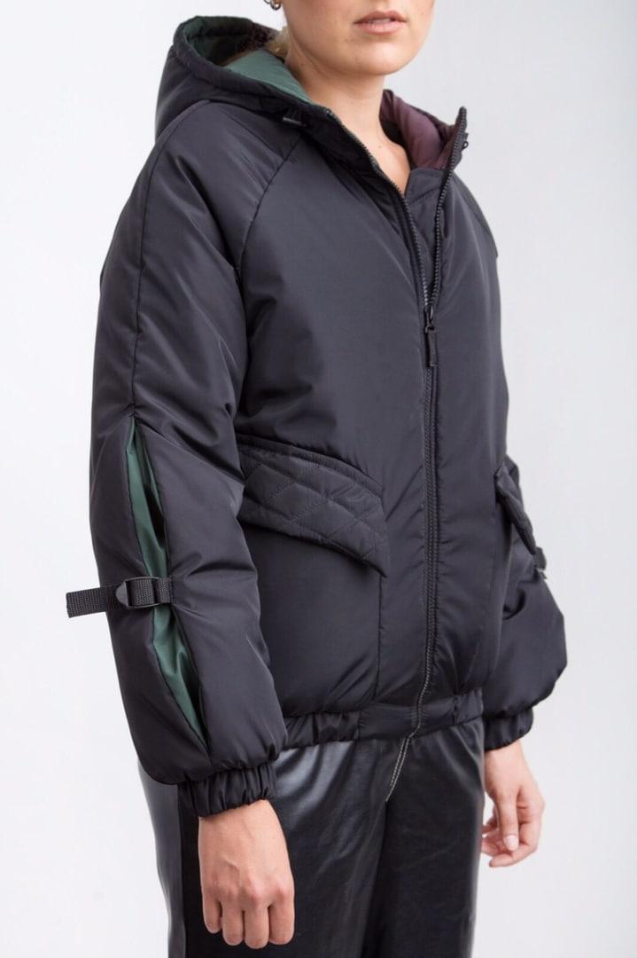 Женская черная куртка деми плащовка осень зима 2019-2020 Jaket Jeans Black