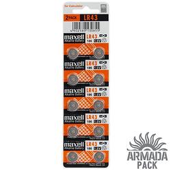 Батарейки Maxell Alkaline LR 43 (10 шт)