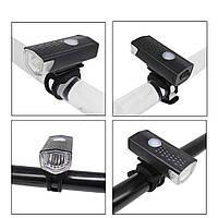 Фонарь велосипедный BSK-2271 аккумулятор + датчик света, фото 1