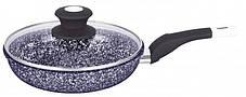 Сковорода с гранитным покрытием и крышкой 20 см UNIQUE UN-5113, фото 2