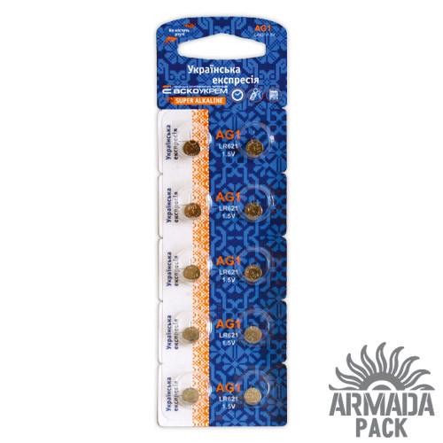 Батарейки Аско Укрем AG1 LR621 (10 шт)