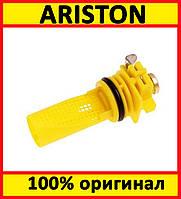 Фильтр водяной с отверстием под манометр на газовый котел Ariston (60001372, 65104711)