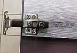 Меблева петля для ДСП накладна з доводчиком CLIP-ON GIFF PRIME 135 градусів D=35 H=0 НІКЕЛЬ, фото 2