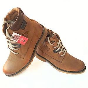 Молодежные кожаные ботинки Mario Boschetti на натуральном меху