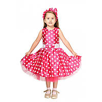 Детский маскарадный костюм Стиляги для девочки розовый, фото 1