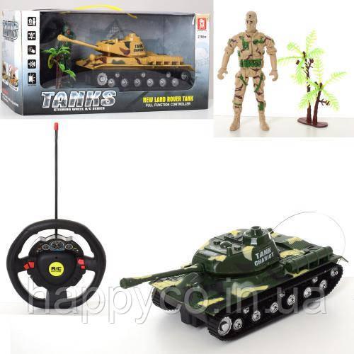 Детская игрушка Танк на радиоуправлении , музыка, свет, с солдатиком