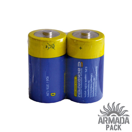 Батарейки Аско Укрем R20 (2 шт)