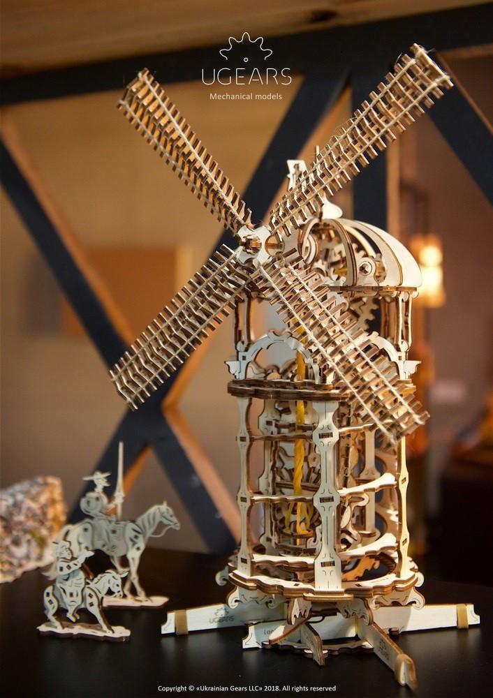 Башня-Мельница | UGEARS | Механический 3D конструктор из дерева