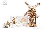 Башня-Мельница | UGEARS | Механический 3D конструктор из дерева, фото 3