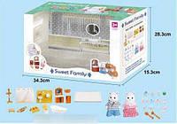 """Набор мебели для ванной комнаты """"Счастливая семья"""" 1604 F (12) 2 персонажа, в коробке"""