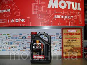 Моторное масло Motul 8100 x-max 0W40 4л