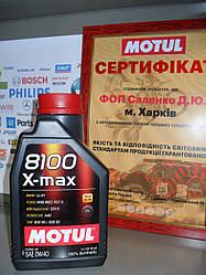 Моторное масло Motul  8100 x-max 0W40 1л