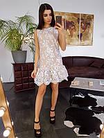 Кружевное платье  с заниженной талией