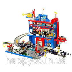 Детский гараж Полицейский участок 3 этажа,  игрушка для мальчиков