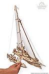 Тримаран Мерихобус   UGEARS   Механический 3D конструктор из дерева, фото 5