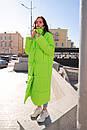 Женское длинное неоновое Пальто на запах из плащевки 60pt231, фото 4