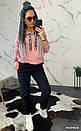 Женский утепленный костюм на флисе с худи 44so792, фото 2