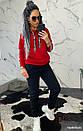 Женский утепленный костюм на флисе с худи 44so792, фото 4