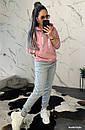 Женский утепленный костюм на флисе с худи 44so792, фото 6