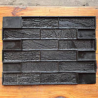"""Форма для декоративного камня и плитки """"Песочный кирпич"""" на 12 плиток, резиновая, бесшовная"""
