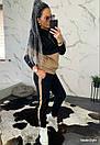 Женский спортивный костюм теплый на флисе двухцветный 44so794, фото 2