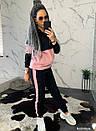 Женский спортивный костюм теплый на флисе двухцветный 44so794, фото 4