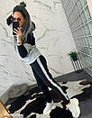 Женский спортивный костюм теплый на флисе двухцветный 44so794, фото 5