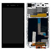 Дисплей для Sony C6902 L39h Xperia Z1, C6903 Xperia Z1, C6906 Xperia Z1, C6943  Z1, белый,  экраном, с рамкой,