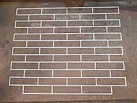 Большой многоразовый трафарет форма кладки под гипсовый кирпич (кирпич 250х65мм, шов10 мм)