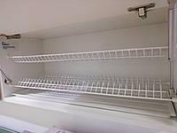 Кухоний посудосушитель GIFF білий під фасад 400, 500, 600, 700, 800мм(2 полиці, 1 піддон, 8 кріплень)