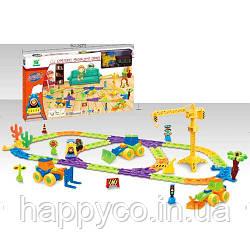 Железная дорога стройтехника, свет, звук, детская игрушка