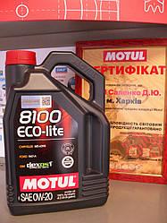 Моторное масло Motul 8100 eco-lite 0w20 4L