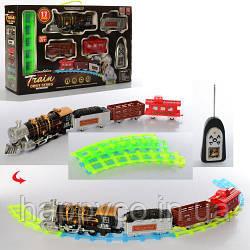Детская Железная дорога на радиоуправлении светится в темноте, дым, звук, свет