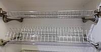 Кухоний посудосушитель Т1 GIFF Хром під фасад 400, 500, 600, 700, 800, 900мм(2 полиці, 2 піддона, 4 кріплення)