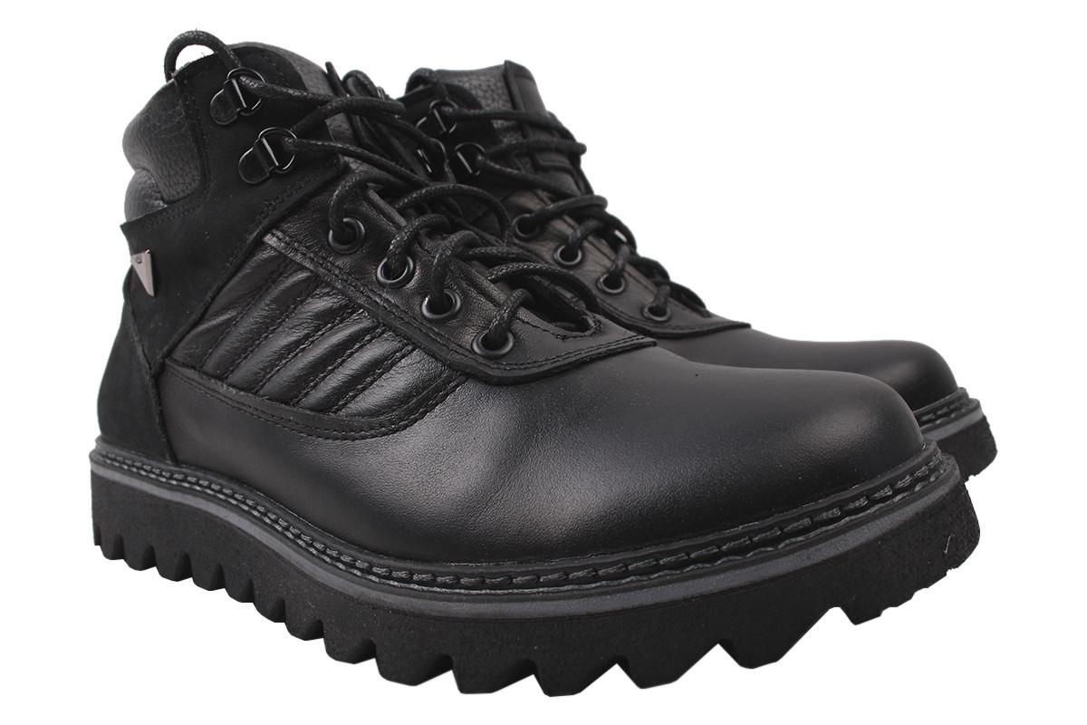 Черевики чоловічі Maxus shoes зимові, натуральна шкіра, колір чорний, розмір 40-45