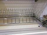 Кухоний посудосушитель Т4 GIFF Нержавіюча сталь з алюмінієвою рамкою (2 полиці, 2 піддона, 4 кріплення), фото 2