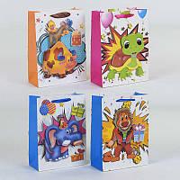 Подарочный пакет 3D С 23340 МАЛЫЙ (840) объемный, с блёстками, 4 вида
