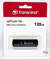 USB флешка Transcend JetFlash 700 128 GB USB 3.1 Black (TS128GJF700), фото 1