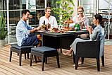 Набор садовой мебели Columbia Dining Set 7 Pcs из искусственного ротанга ( Allibert by Keter ), фото 3