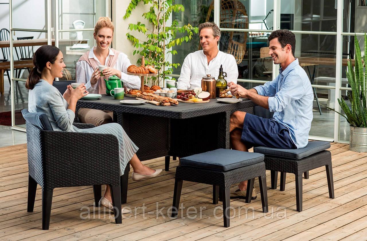 Набор садовой мебели Columbia Dining Set 7 Pcs из искусственного ротанга