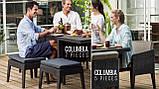 Набір садових меблів Columbia Dining Set 7 Pcs з штучного ротанга ( Allibert by Keter ), фото 8