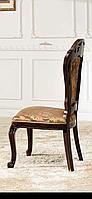 Стул коричневый с золотом , деревянный, с пружинным блоком в сидении , Коко-8695